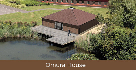 Omura House button